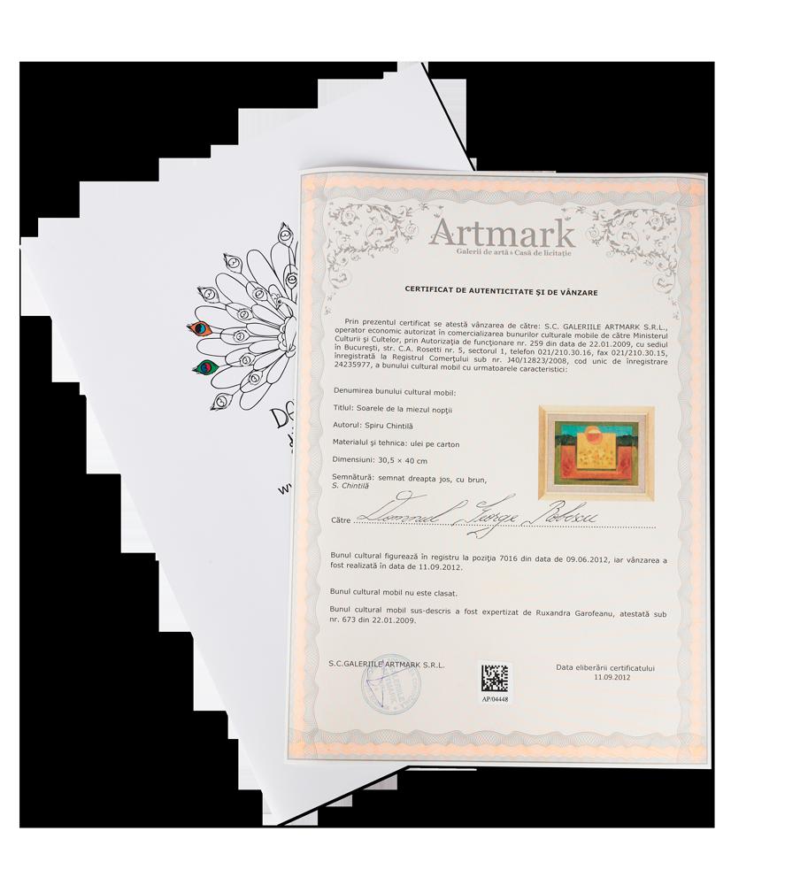 Certificat de vanzare